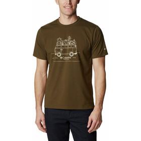 Columbia Sun Trek Short Sleeve Graphic Tee Men, olijf